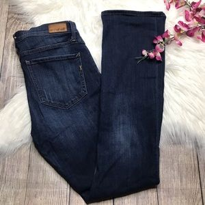 Express MidRise Barely Boot Dark Wash Jeans 10